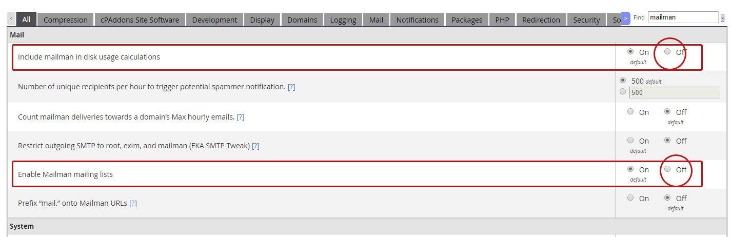mailman تنظیمات سرور cPanel جهت افزایش سرعت وب سایت ها