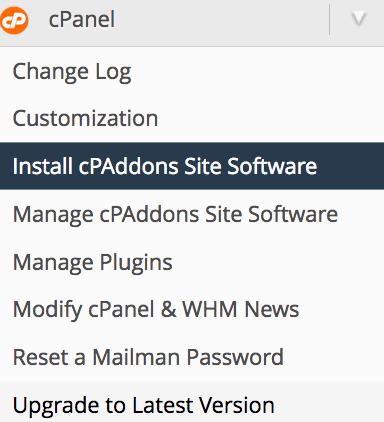 cPAddons نصب کننده خودکار یا Installer برای وردپرس در cPanel