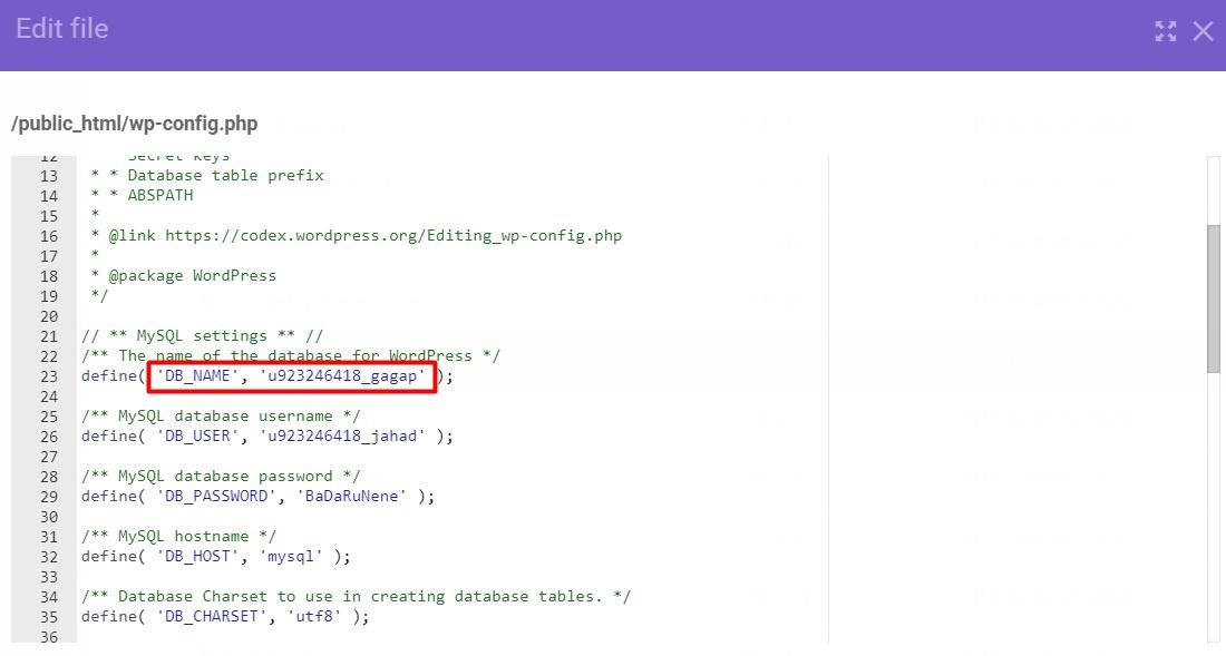 db name تغییر آدرس های سایت از طریق SQL Query در دیتابیس وردپرس