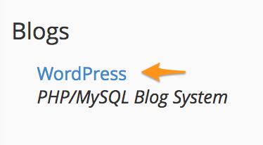 wordpress hosting نصب کننده خودکار یا Installer برای وردپرس در cPanel