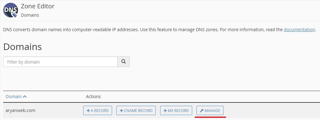 DNS Zone Editor TXT Record و نحوه اضافه کردن آن به هاست