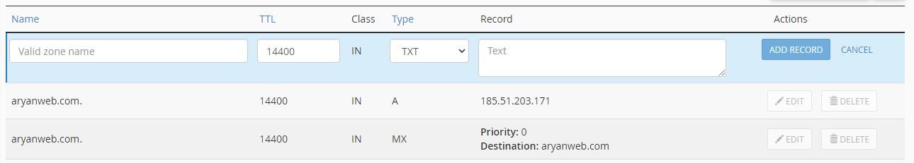 TXT Record TXT Record و نحوه اضافه کردن آن به هاست